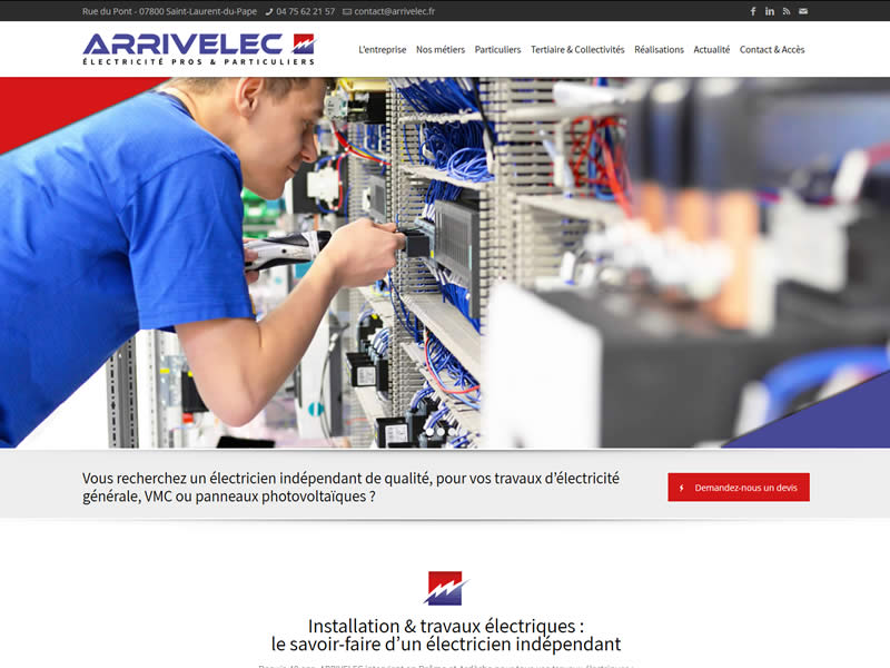 Actu_ nouveau Site internet ARRIVELEC