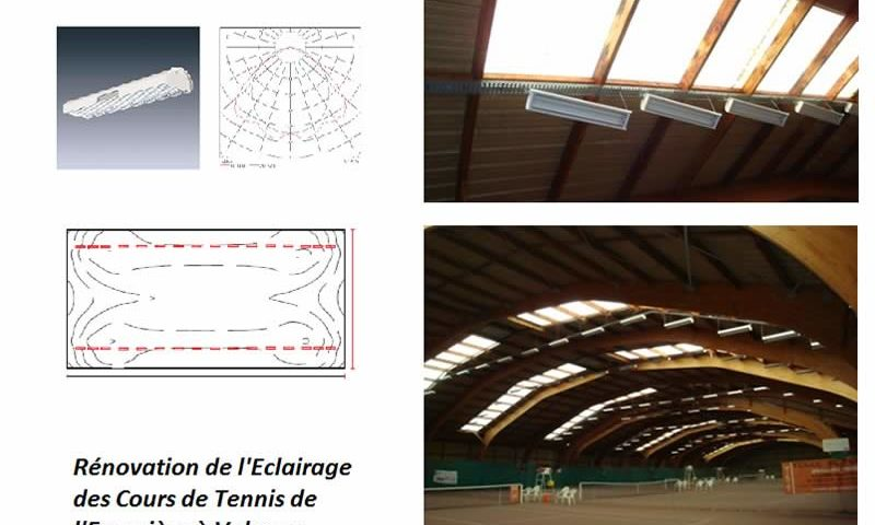 ARRIVELEC - Chantier Cours de Tennis de Valence à l'Epervière - renovation eclairage