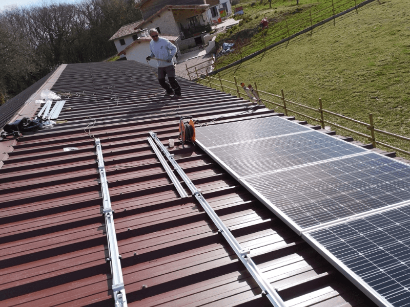 Arrivelec - chantier photovoltaique - Chambron Matthieu